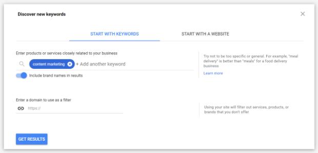 Google Keyword Planner by Linkskorener