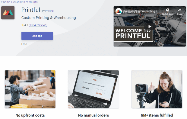 printful makes it super easy to sell online