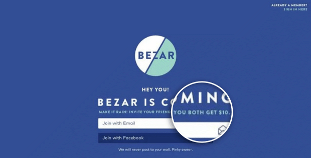 bezar-coming-soon-page-with-incentive