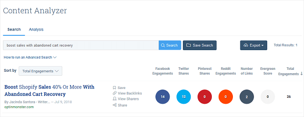 track your competitors with BuzzSumo