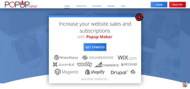 supported popup maker websites