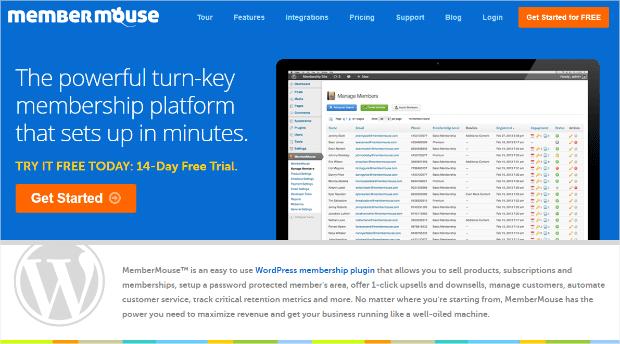membermouse wordpress membership site plugin