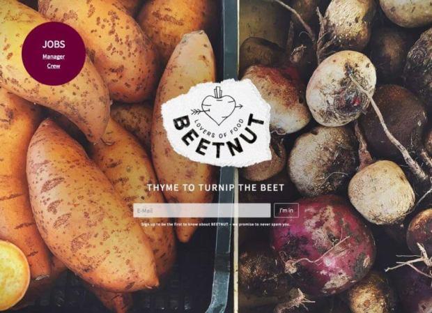 beetnut pre-launch marketing page