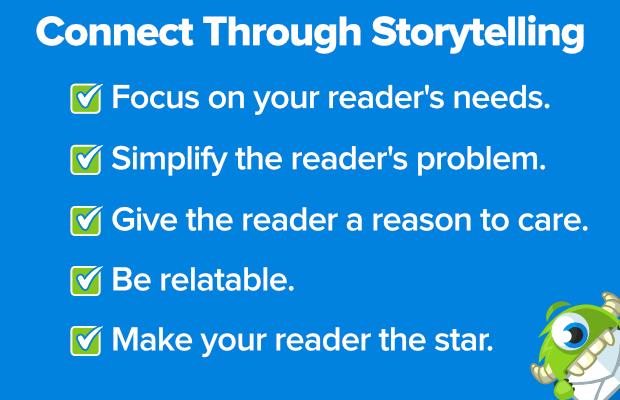 connect through storytelling