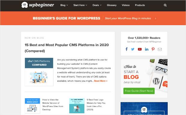 WPBeginner homepage