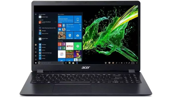 Analysis of the  Aspire 3 A315-56-38TF Noir – Core i3-1005G1 from Acer.