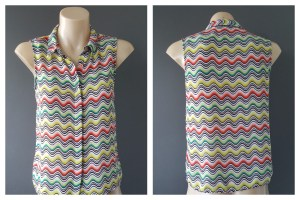MISSONI For Target Short Sleeve Button Down Top Size 10