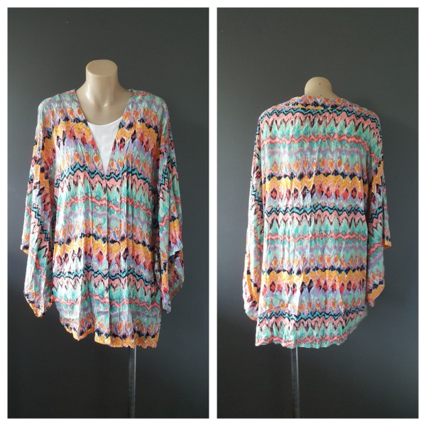 NAUGHTS AND CROSSES Zig Zag Pattern Open Top / Cover Up Size S /M