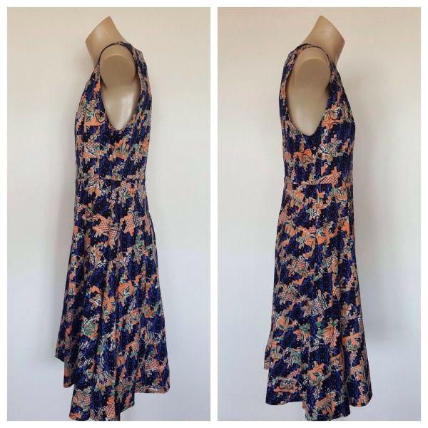 GINGER AND ORANGE Ladies Multi Pattern Sleeveless Dress Size 10
