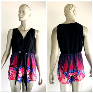 MOOLOOLA Jumpsuits, Rompers & Playsuits Black And Coloured Floral Design Size 8