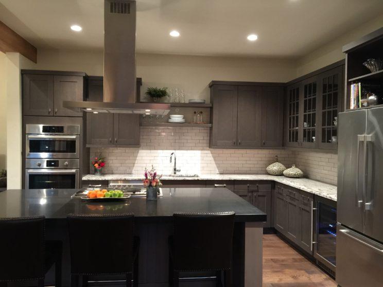 kitchen The Shores Breckenridge mountain resort living Blue River Colorado new homes slab granite countertops