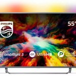 Philips Ambilight 55PUS7303/12 Fernseher 139 cm (55 Zoll) LED Smart TV (4K UHD, HDR Plus, Micro Dimming Pro, Android TV, Google Assistant) [Energieklasse A+]