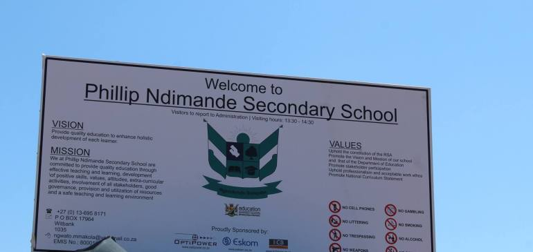 Phillip Ndimande Secondary School Sign
