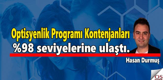 Optisyenlik Programı Kontenjanları