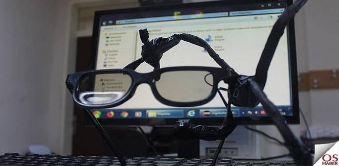 """Gözlüğe monteli kullanılabilen """"engelsiz mouse"""" yaptılar"""