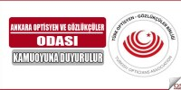 Ankara Optisyen ve Gözlükçüler Odası Duyuru