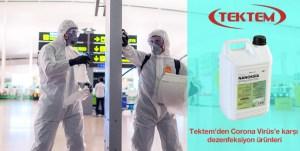 Tektem'den Corona Virüs'e karşı dezenfeksiyon ürünleri