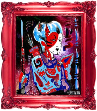 OptivioN- %22samurai%22 tomoe gozen framed small