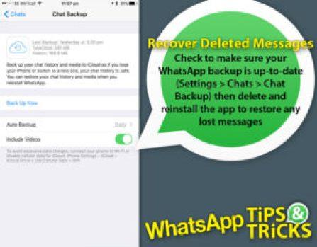 WhatsApp Delete Sent Messages Location Trace