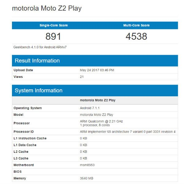Moto Z2 Play features