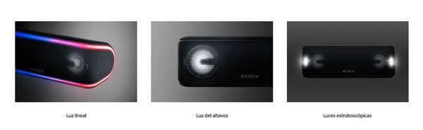 New Sony SRS-XB41 lights