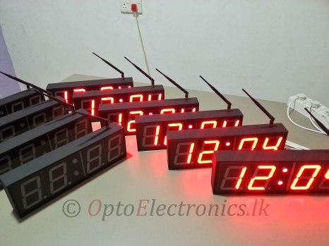 Precision Single Side Digital Clocks - Wireless