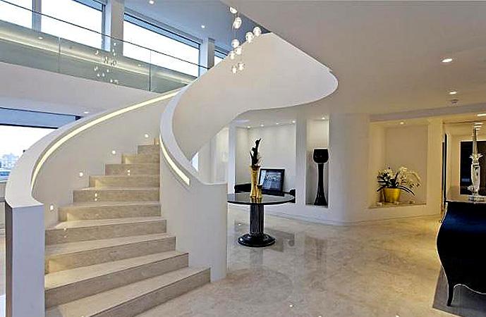 led im treppenhaus sorgt f r rechtsmittel sicherheit und vielseitigkeit optonica led austria. Black Bedroom Furniture Sets. Home Design Ideas