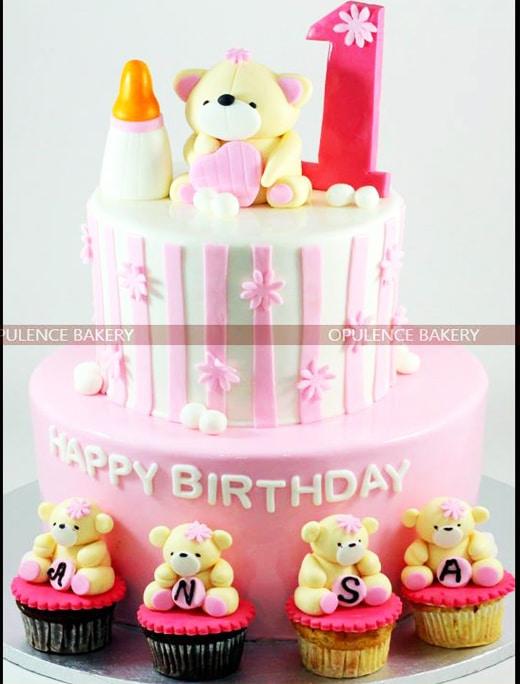Teddy Bear Cakes For 1st Birthday Opulence Bakery