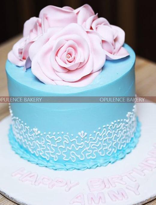 Moms Birthday Fondant Cake Opulence Bakery