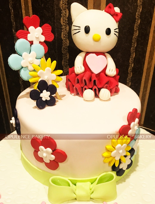 Hello Kitty 2 Pounds Customised Cake 1st Birthday By Opulence Lahore