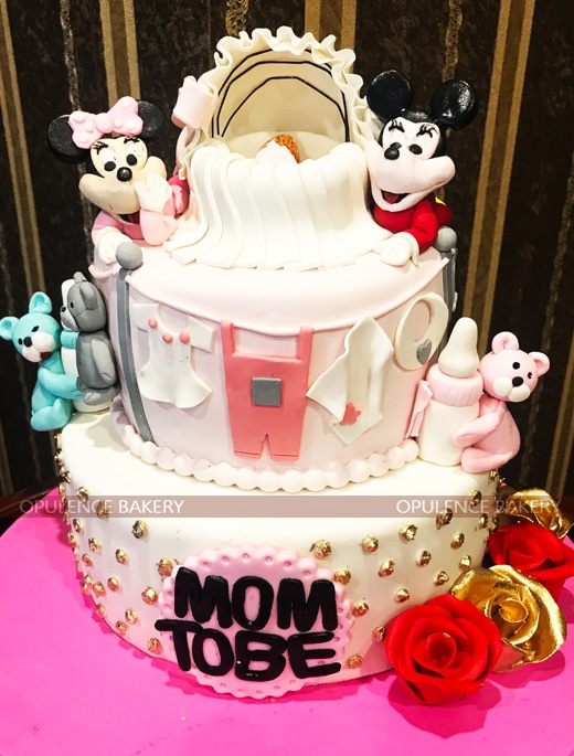 Mom To Be Cake In 6 Pounds Opulence Bakery