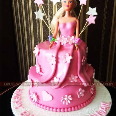 Pink Doll Cake for Girls