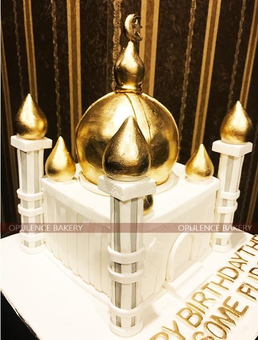 Taj Mahal Golden Birthday Cake