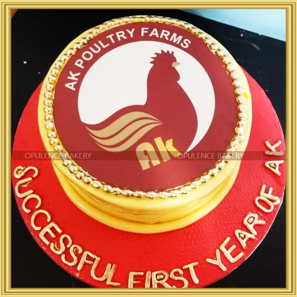 custom cake for poultry farmer