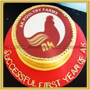 custom cake for poultry farmer