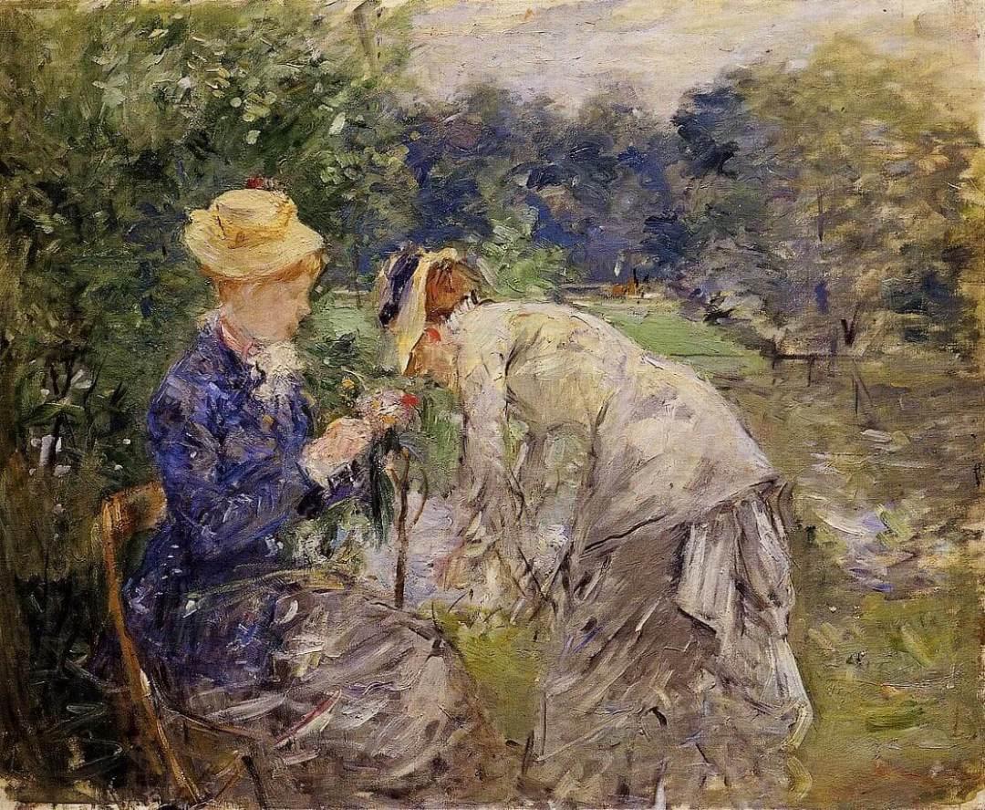 """""""In the Bois de Boulogne"""" by Berthe Morisot"""