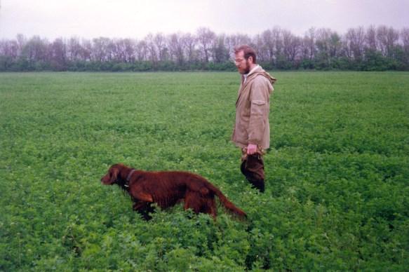 1995.05.04 АПАШ на стойке по перепелу. Пески, близ Донецка.