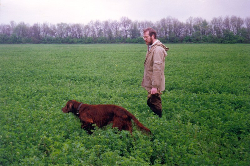 1995.05.04 Апаш на стойке по перепелу, близ Донецка. Пески