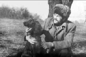 1989 год. Создатель сайта Сергей Матвеев с ирландским сеттером АПАШЕМ 1862/и