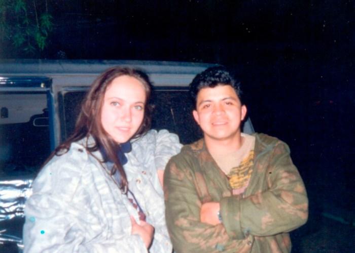 1994.05.14 Донецкие областные состязания легавых, Мариуполь, с. Бердянское. Катя и Луис Муньос (владелец ЛАЙЗЫ).