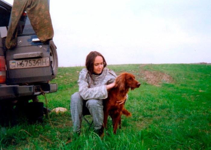 1994.05.14 Донецкие областные состязания легавых. Катя и ЛАЙЗА.