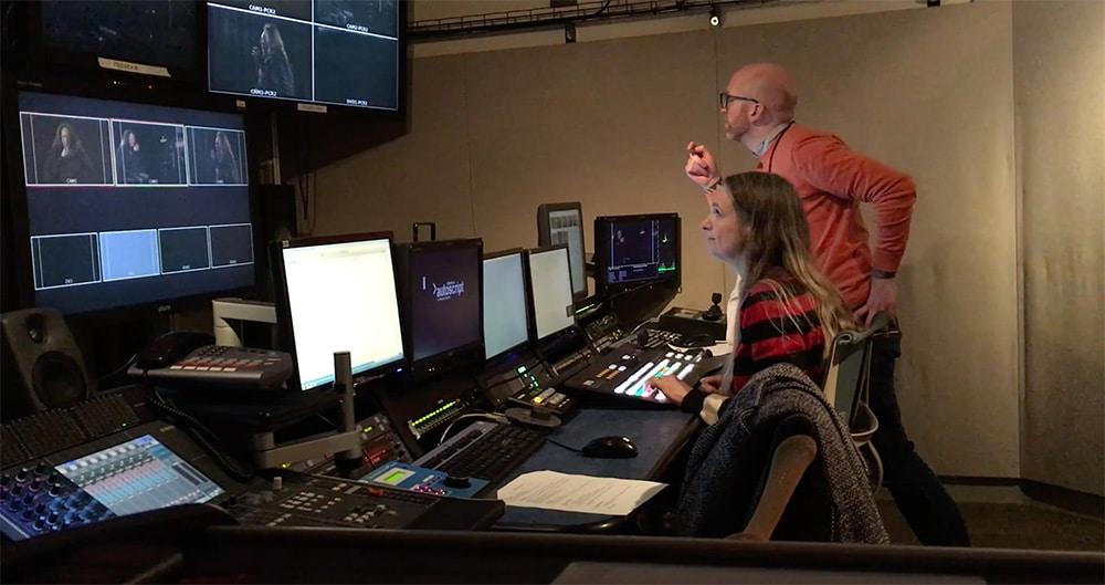 Robert directing at MNN Studios