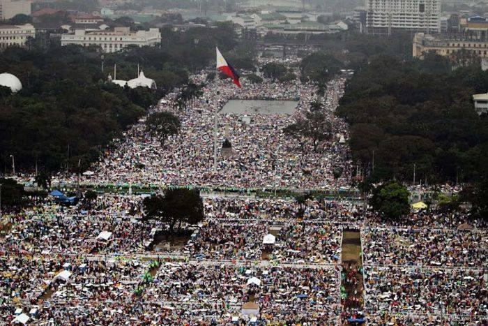 Pope Luneta Aerial Shot