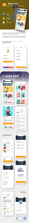 NEW eCommerce Flutter App Template | 3 Apps | User App + Vendor App + Delivery App | ShopCart - 5