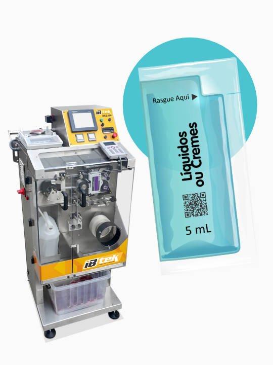 MK5 - máquina para fracionamento de líquidos, xaropes, fitoterápicos em sachês