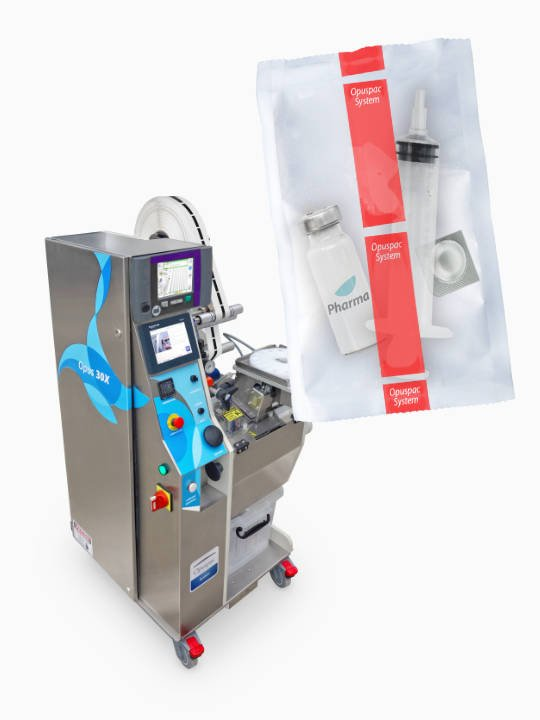 Opus 30X - unitarização de frascos, ampolas e kits