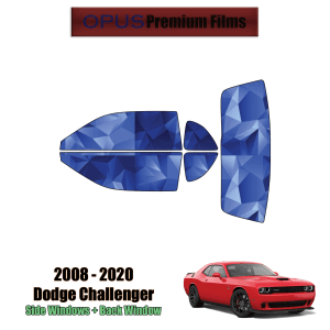 2008 – 2020 Dodge Challenger – Full Coupe Precut Window Tint Kit Automotive Window Film