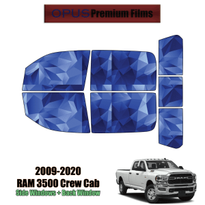 2009 – 2020 RAM 3500 Crew Cab – Full Truck Precut Window Tint Kit Automotive Window Film