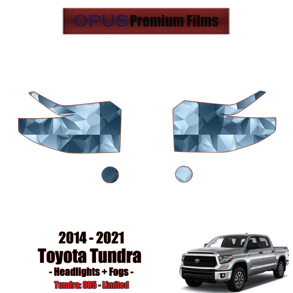 2014 – 2021 Toyota Tundra – Precut Paint Protection Kit (PPF) Headlights + Fogs