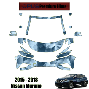 2015 – 2018 Nissan Murano – Precut Paint Protection Kit (PPF) Partial Front